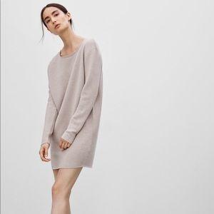 Aritzia Wilfred Campanule Sweater Dress Tan Tunic